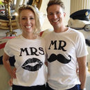 Mr And Mrs T Shirts Wedding Gift Set - fashion