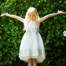 Flower Girls | Occasion | Party Dress Embroidered White