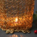 Gold Wire Owl Lantern