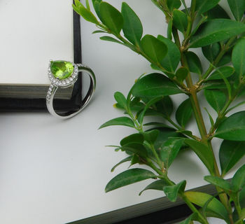 Pear Drop Peridot Ring