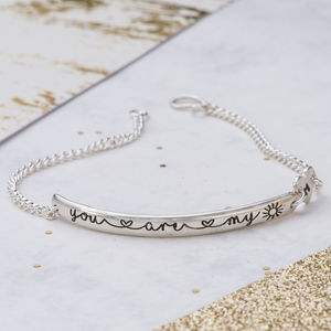 You Are My Sunshine Bracelet - gifts for her