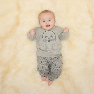 Rocket Seal Pup Baby Sweatshirt