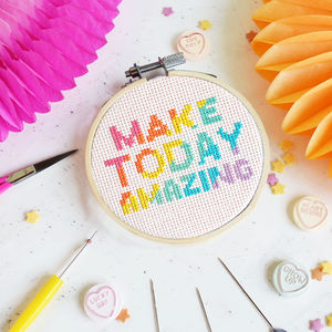 Make Today Amazing Cross Stitch Craft Kit - creative kits & experiences