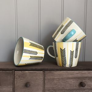 Chevron Design Mug - dining room