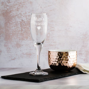 Personalised Prosecco Glass - personalised mother's day gifts