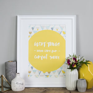 'Great Things' Inspirational Poster Print