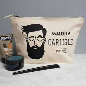 Personalised Dapper Dude Washbag - make-up & wash bags
