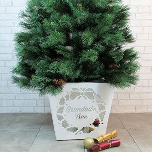 This Christmas Tree Holder Can Be Personalised - tree skirts & stands