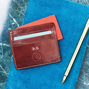 Italian Leather Card Holder 'The Marco' - view all gifts for him