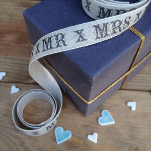 Mr And Mrs Wedding Ribbon - wedding favours