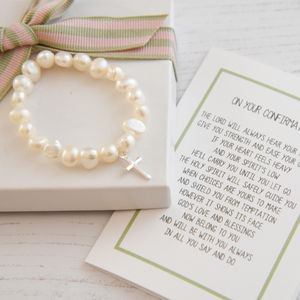 Personalised Girl's Confirmation Bracelet With Verse - charms, charm bracelets & necklaces