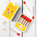 Matchstick Pencils And Matching Note Book Set