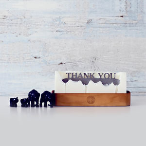 'Thank You' Hidden Message Candle - tableware