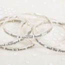 Silver Message Bangles