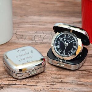 Personalised Travel Alarm Clock Gift
