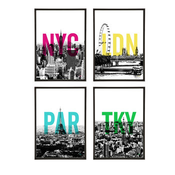 Skyline Group Pop Art Prints