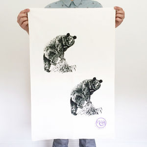 Jungle Bear Tea Towel - kitchen