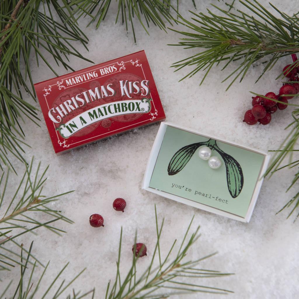 christmas kiss mistletoe with pearls by marvling bros ltd ...