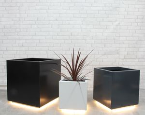 Cube Garden Planter With LED Lights - outdoor lights