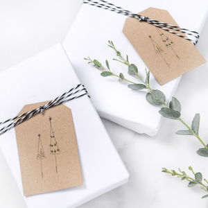 Christmas Gift Tags With Christmas Trees - festive scandi