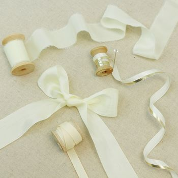 Ivory Silk Ribbon, Speciality Bridal Collection