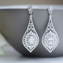 Ornate Crystal Chandelier Earrings
