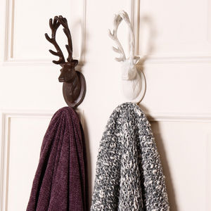 Country Stag Wall Hook Selection - hooks, pegs & clips