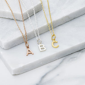 Initial Charm Pendant Necklace