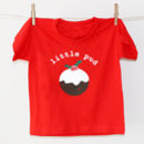'Little Pud' Personalised Children's Christmas T Shirt