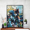 Abstract 139 Blue Art Print A5 A4 A3 Size