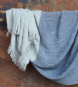 Mobali Linen Throw - blankets, comforters & throws