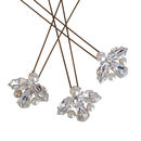Set Of Three Grace Crystal And Pearl Hairpins