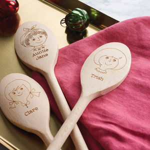 Personalised Wooden Spoon - stocking fillers