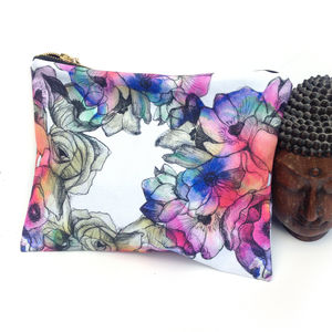 Flower Cosmetic Bag - make-up & wash bags
