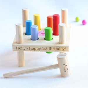 Colourful Wooden Hammer Toy - new in baby & child