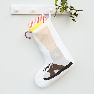 Personalised Sandal And Sock Stocking