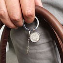 Any Date Personalised Sixpence Keyring