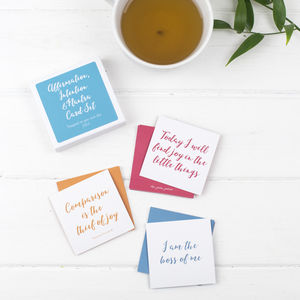 Affirmation, Intention And Mantra Card Set - mindfulness trend