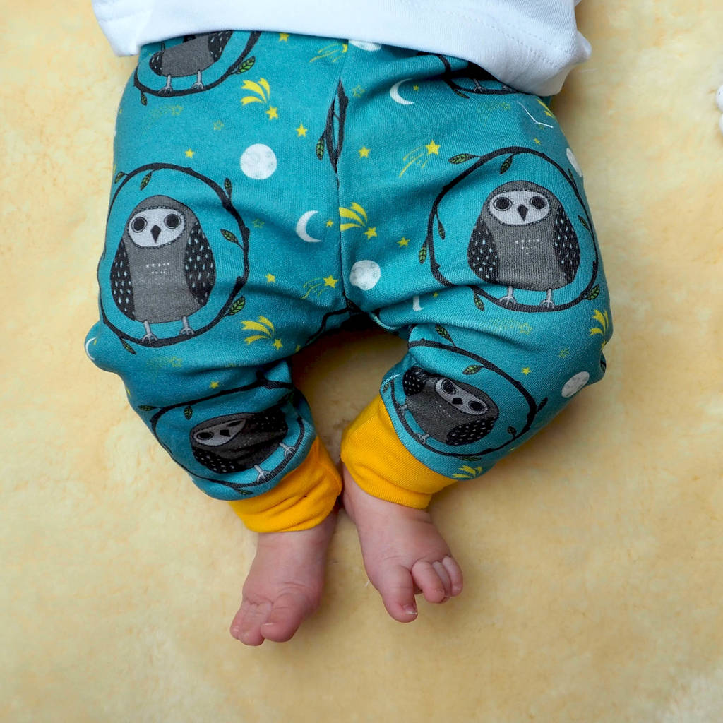Organic Owl Baby Leggings