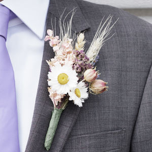 Three Country Garden Buttonholes