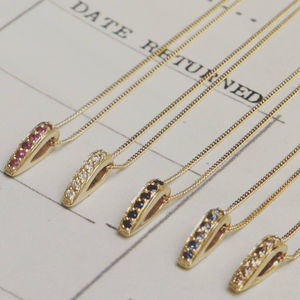 Gold And Gemstone En Pointe Pendants - fine jewellery
