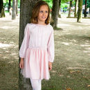Girls French Designer Vintage Long Sleeve Party Dress