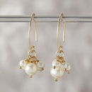 Mini Gold Pearl Cluster Earrings