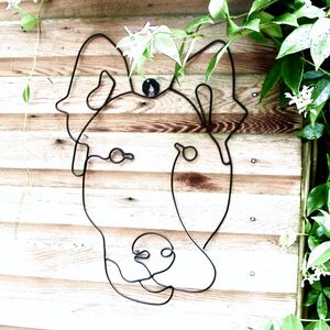 Garden Wall Art Or Topiary Frame Dog