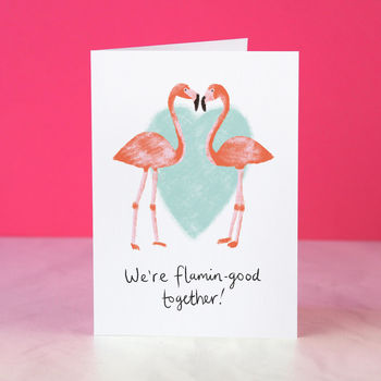 Flamingo Couple Anniversary Or Valentine Card