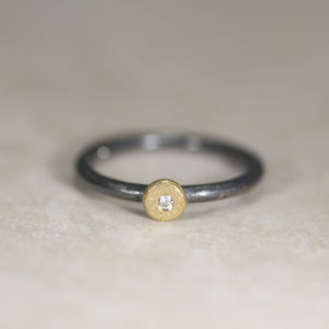 Gold And Silver 'Sun And Star' Ring - new in jewellery