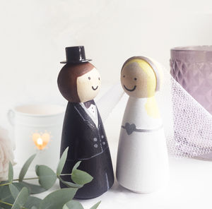 Personalised Couple Wedding Keepsake Dolls