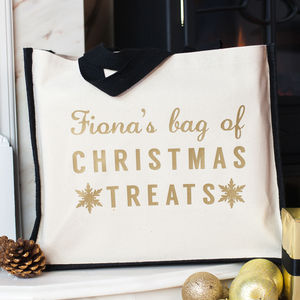 Personalised Christmas Treats Bag - stockings & sacks