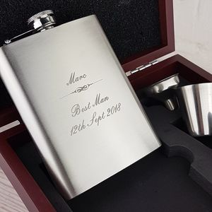 Gentlemen's Hip Flask With Presentation Box - mens