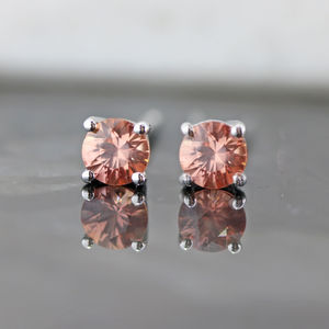 Red Sapphire Claw Set Studs